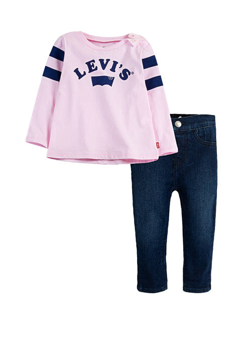 Levi's® Toddler Girls Long Sleeve T Shirt and