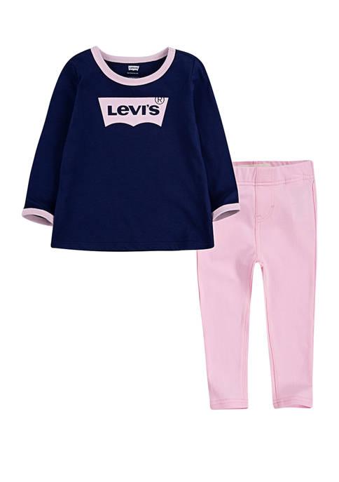 Levi's® Toddler Girls Logo Legging Set