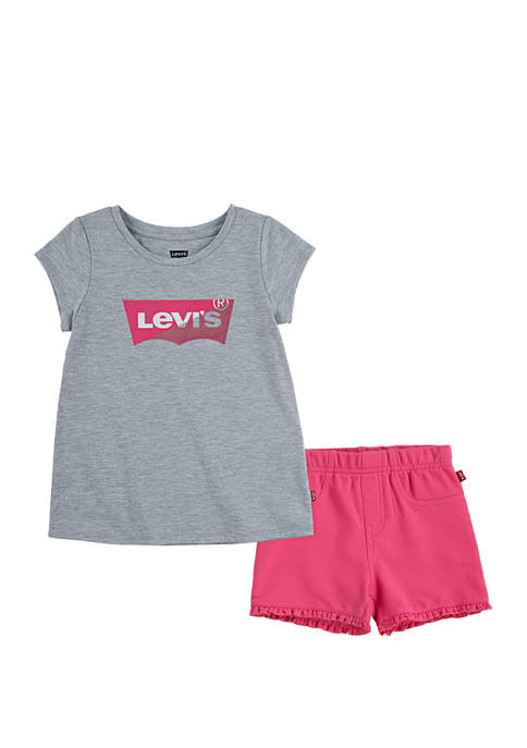 Levi's® Toddler Girls Graphic T-Shirt and Shorts Set