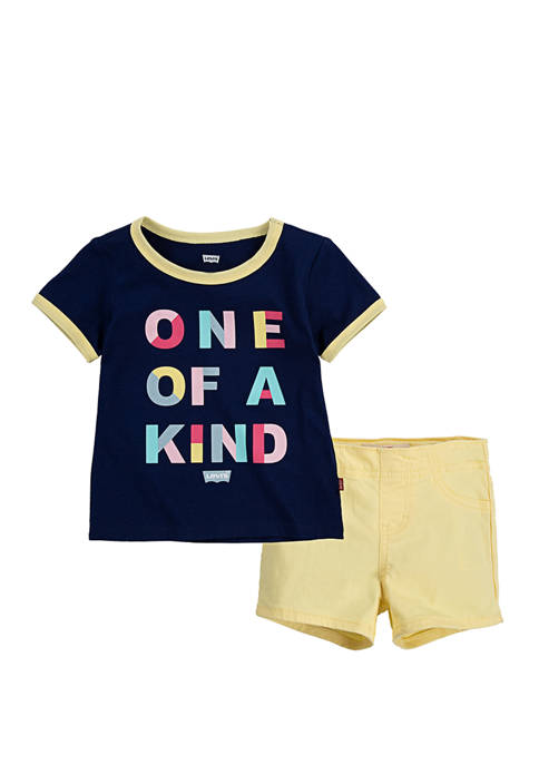 Levi's® Toddler Girls T-Shirt and Shorts 2 Piece