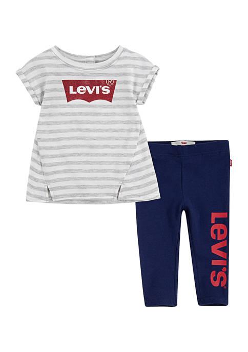 Levi's® Toddler Girls Tunic T-Shirt and Leggings Set