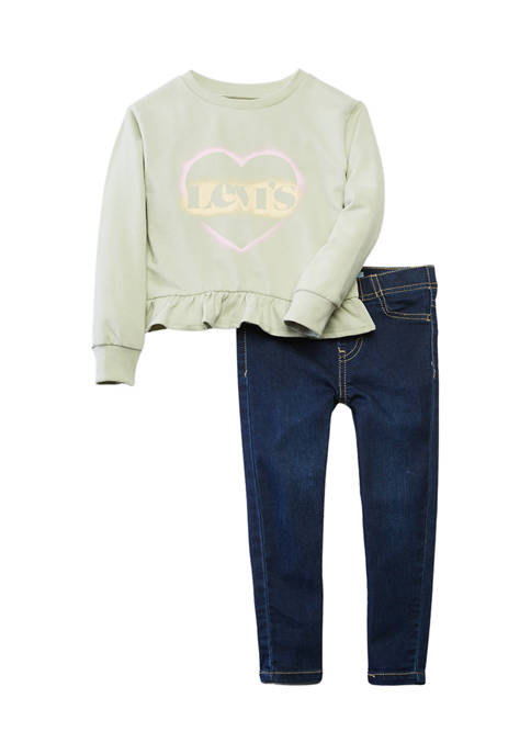 Levi's® Girls 4-6x Ruffle Graphic Set