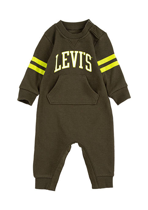 Levi's® Baby Girls Collegiate Knit Coveralls