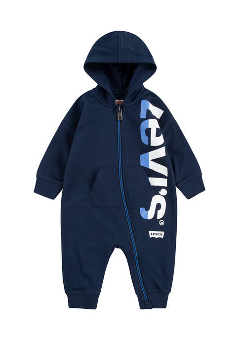 Baby French Terry Full-Zip Hooded Coverall