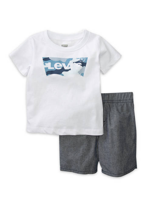 Levi's® Baby Boys 2-Piece Batwing T-Shirt and Shorts