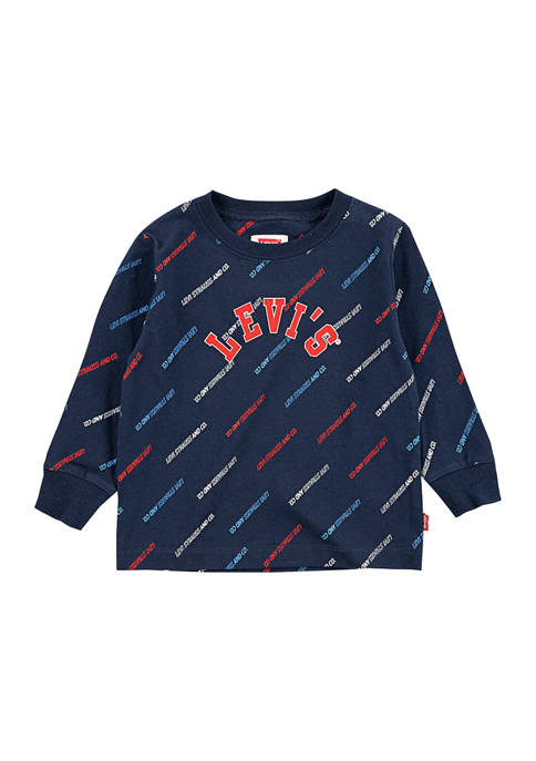 Levi's® Baby Boys Printed Top and Joggers Set