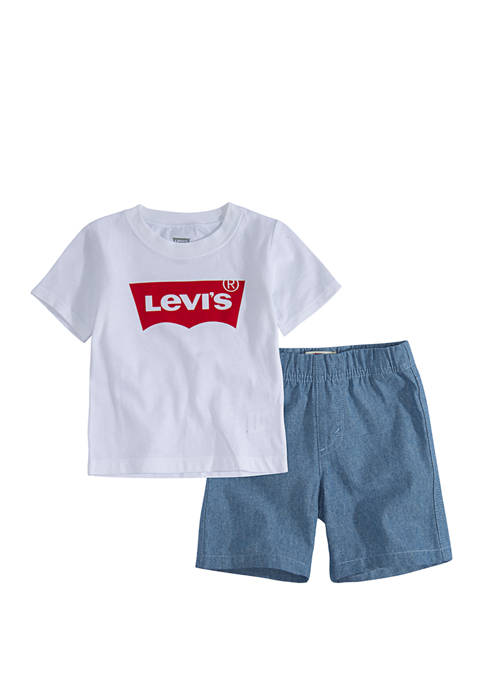 Levi's® Toddler Boys Batwing Pull On Shorts Set