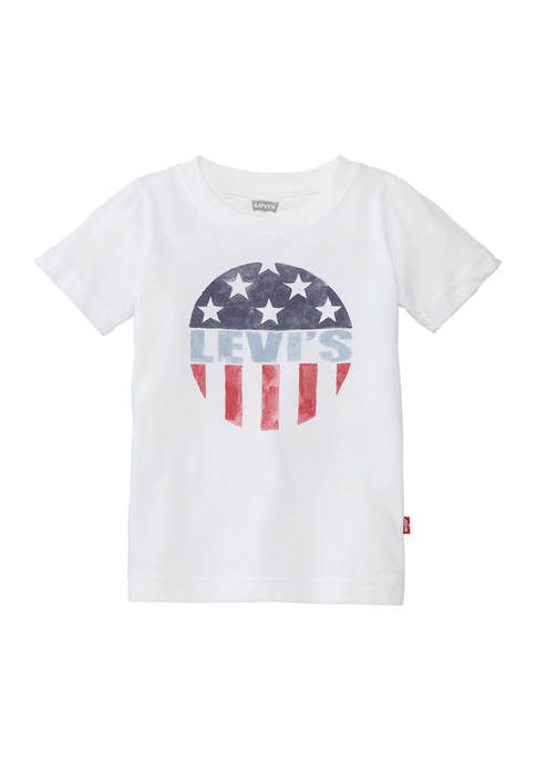 Levi's® Toddler Boys Red, White and Blue Circle