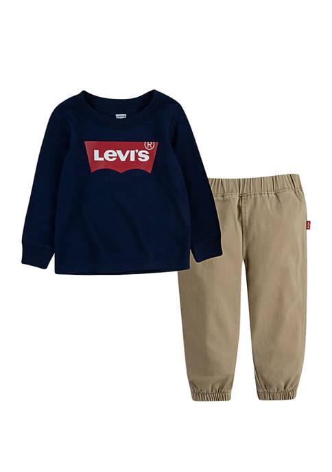 Levi's® Toddler Boys Twill Jogger Set