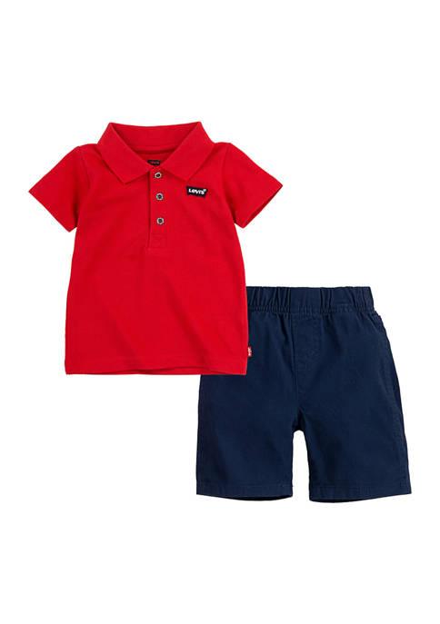 Levi's® Toddler Boys Polo Set