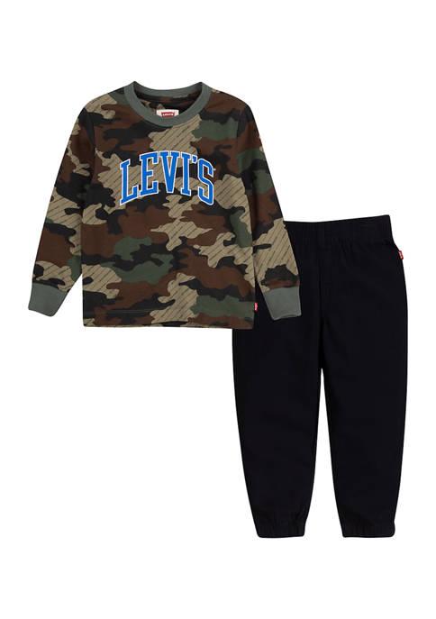 Levi's® Toddler Boys Camouflage Print Logo Graphic Set