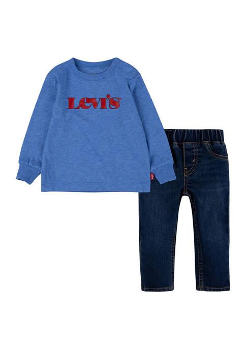 Levi's® Toddler Boys Long Sleeve Graphic Denim 2