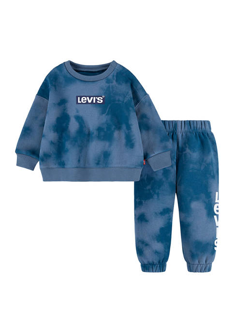 Toddler Boys Long Sleeve Logo Graphic Sweater and Joggers Set