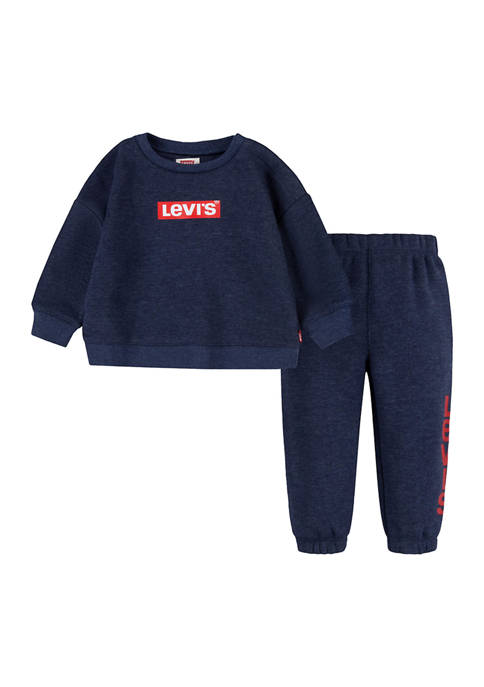 Levi's® Toddler Boys Crew Graphic Sweater and Jogger