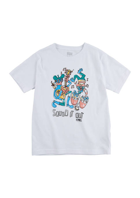 Toddler Boys Sound It Out Short Sleeve Graphic T-Shirt