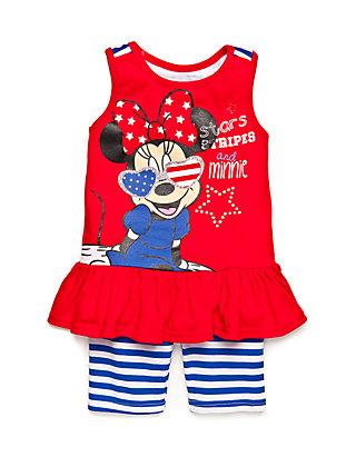 979d8d40b7dbf 2-Piece Stars Stripes and Minnie Tunic and Biker Shorts Set Toddler Girls