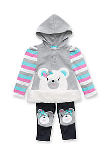 Girls Infant Bear Patch Set