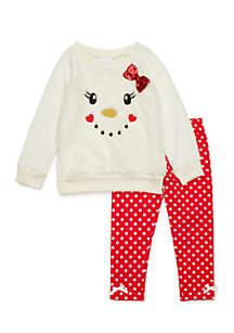 Toddler Girls Snowman Woobie Set