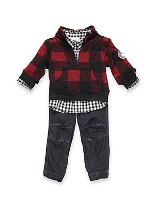 1b371b3bafe1f0 Nannette Boys Infant Red Plaid Jacket Set