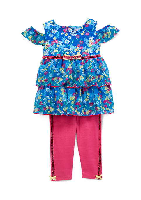 Baby Girls 2-Piece Floral Sequin Set