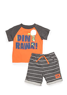 Infant Boys 2-Piece Dino Rawr Set
