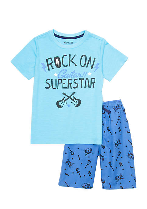 Nannette Toddler Boys Short Sleeve Rock and Roll