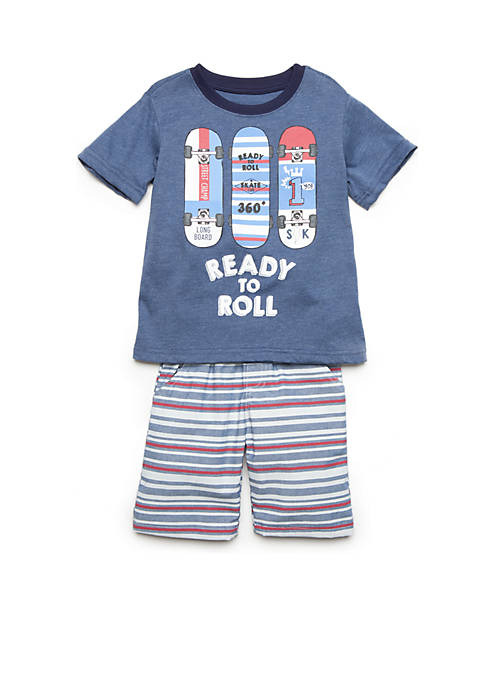 Nannette Ready To Roll Shorts Set Toddler Boys