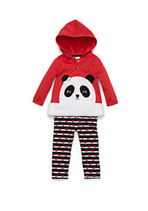 Baby Girls Panda Sherpa Set