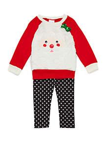 Toddler Girls Santa Woobie Set