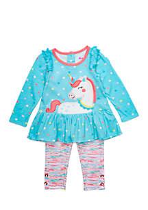 Infant Girls Unicorn Legging Set