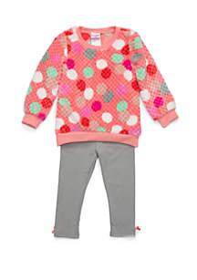 Toddler Girls Foil Print Woobie Set