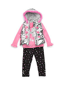 Baby Girls Puffer Vest Set