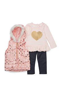 Baby Girls Fur Vest Set