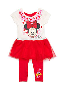 Infant Girls 2-Piece Minnie Mouse Legging Set