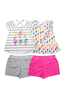 ec331665a ... Nannette Toddler Girls Ice Cream Tops and Shorts Set