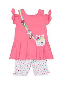 Nannette Toddler Girls Unicorn Short Set