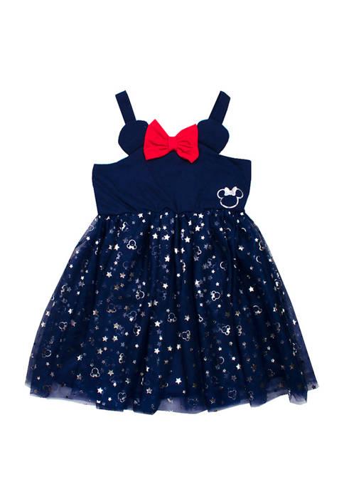 Nannette Toddler Girls Americana Minnie Dress