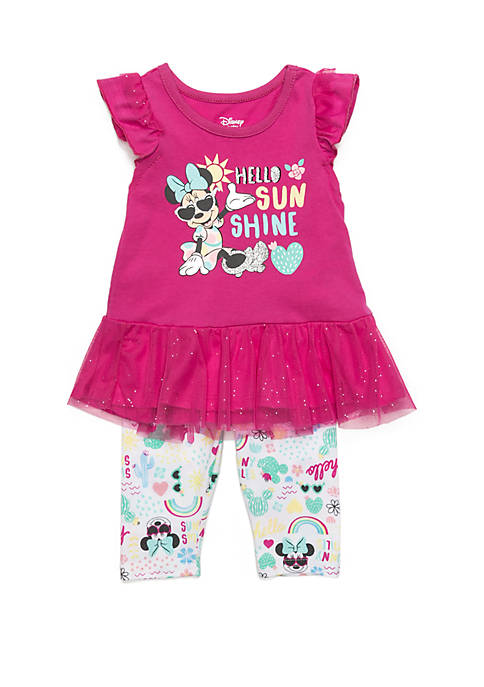 Disney® Baby Girls Minnie Mouse Sunshine Capri Set