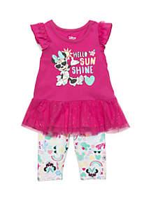 Disney® Baby Girls Minnie Mouse Sunshine Capri Set