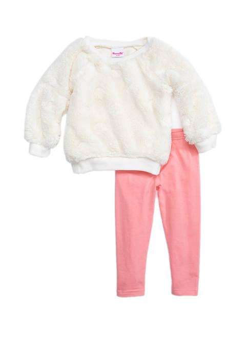 Toddler Girls Embossed Top and Legging Set