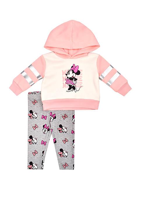 Nannette Baby Girls Minnie Hoodie and Leggings Set