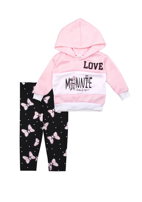 Nannette Baby Girls Love Minnie Hoodie and Leggings