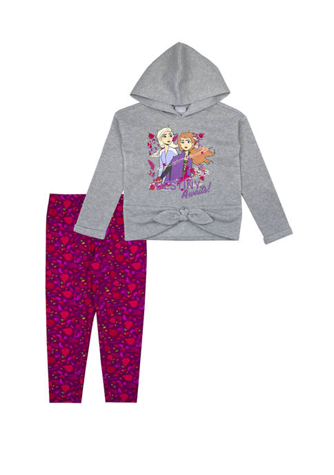 Toddler Girls Tie Front Top and Leggings Set