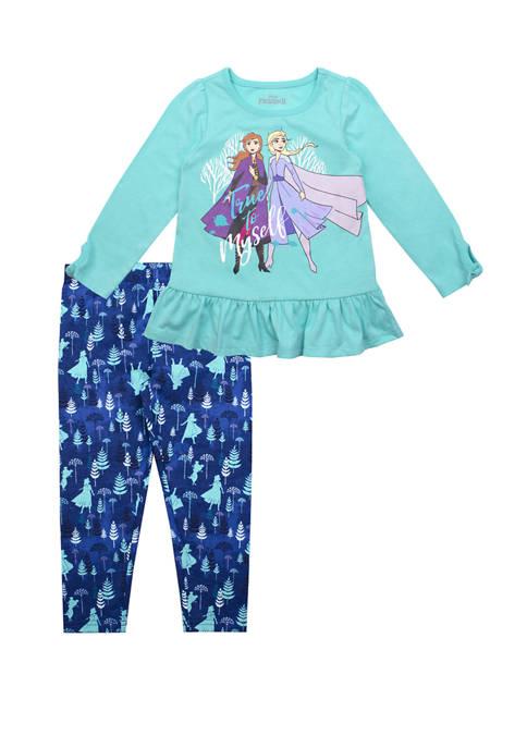 Disney® Frozen 2 Toddler Girls Turquoise Ruffle Shirt