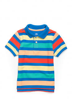 J. Khaki® Short Sleeve Striped Pique Polo Toddler Boys