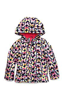Baby Girls Fleece Lined Printed Jacket