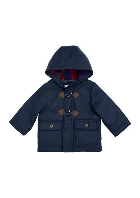 Carter's® Baby Boys Navy Wool Toggle Coat