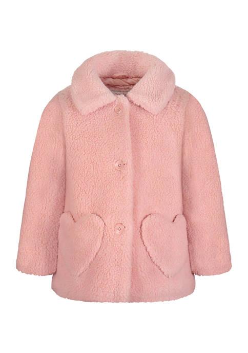 Carter's® Toddler Girls Pink Faux Sherpa Coat