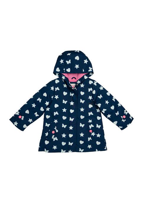 Carter's® Toddler Girls Color Changing Heart Print Jacket
