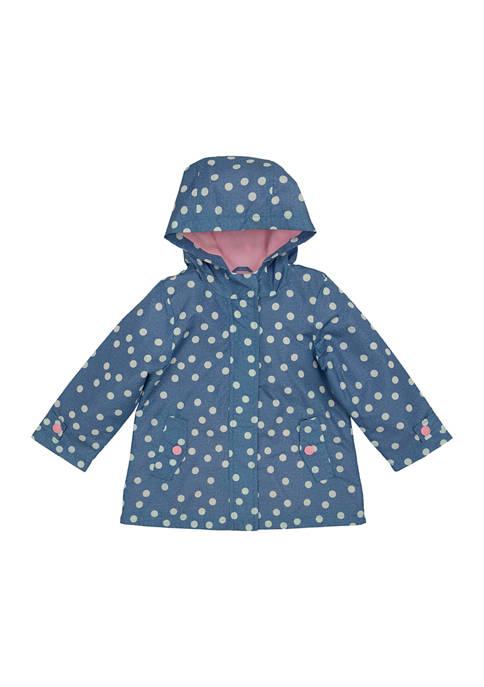 Carter's® Toddler Girls Chambray Rain Slicker